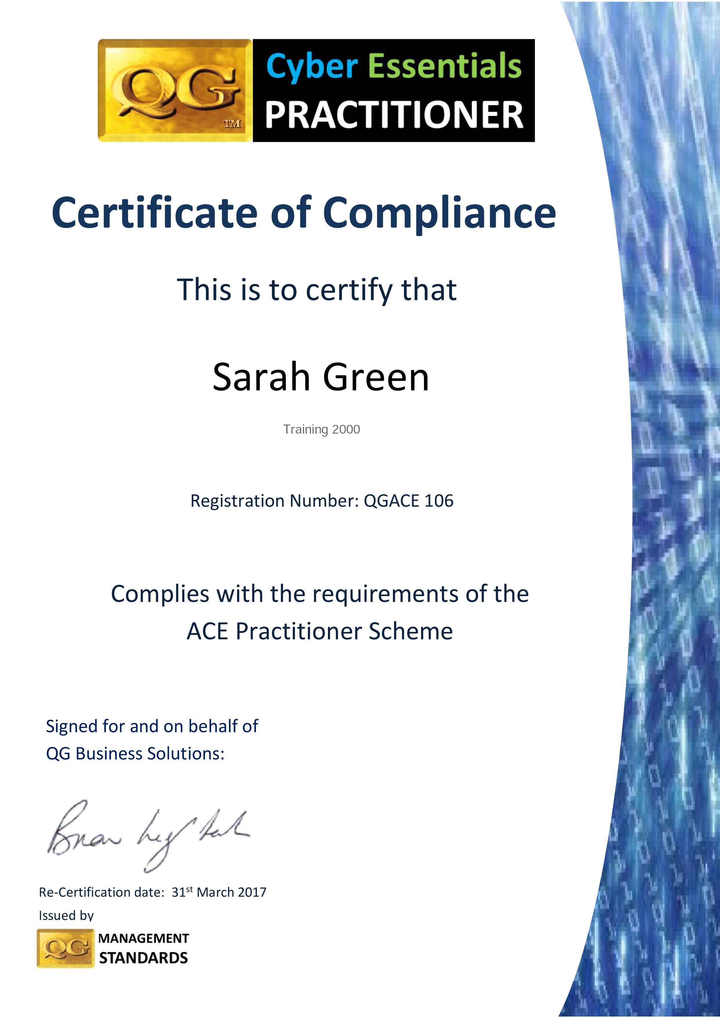 QG ACE 16 17 Sarah Green