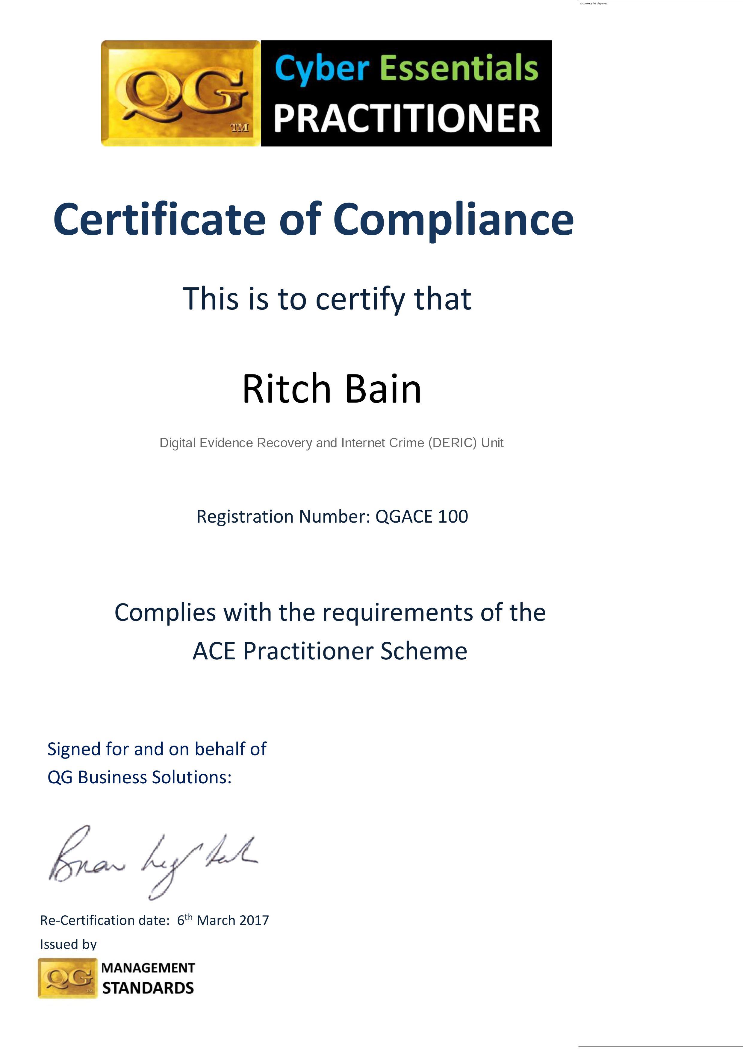 QGACE100 16 17 cert Ritch