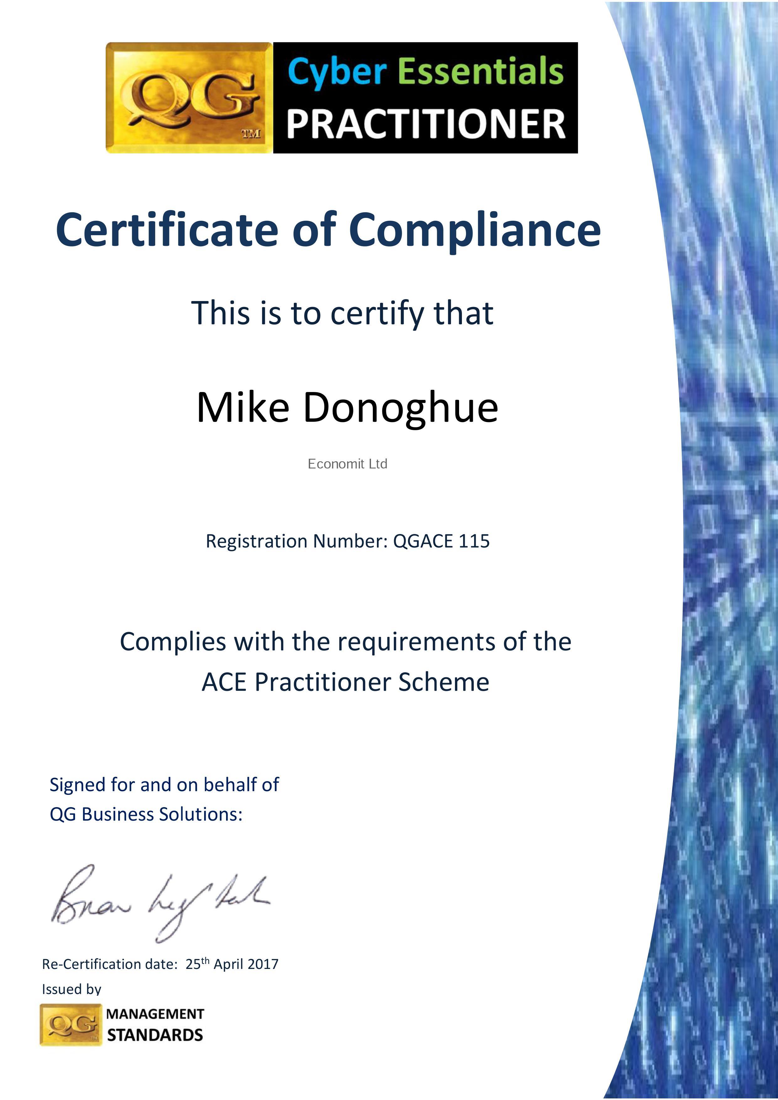 QGACE115 Mike Donoghue