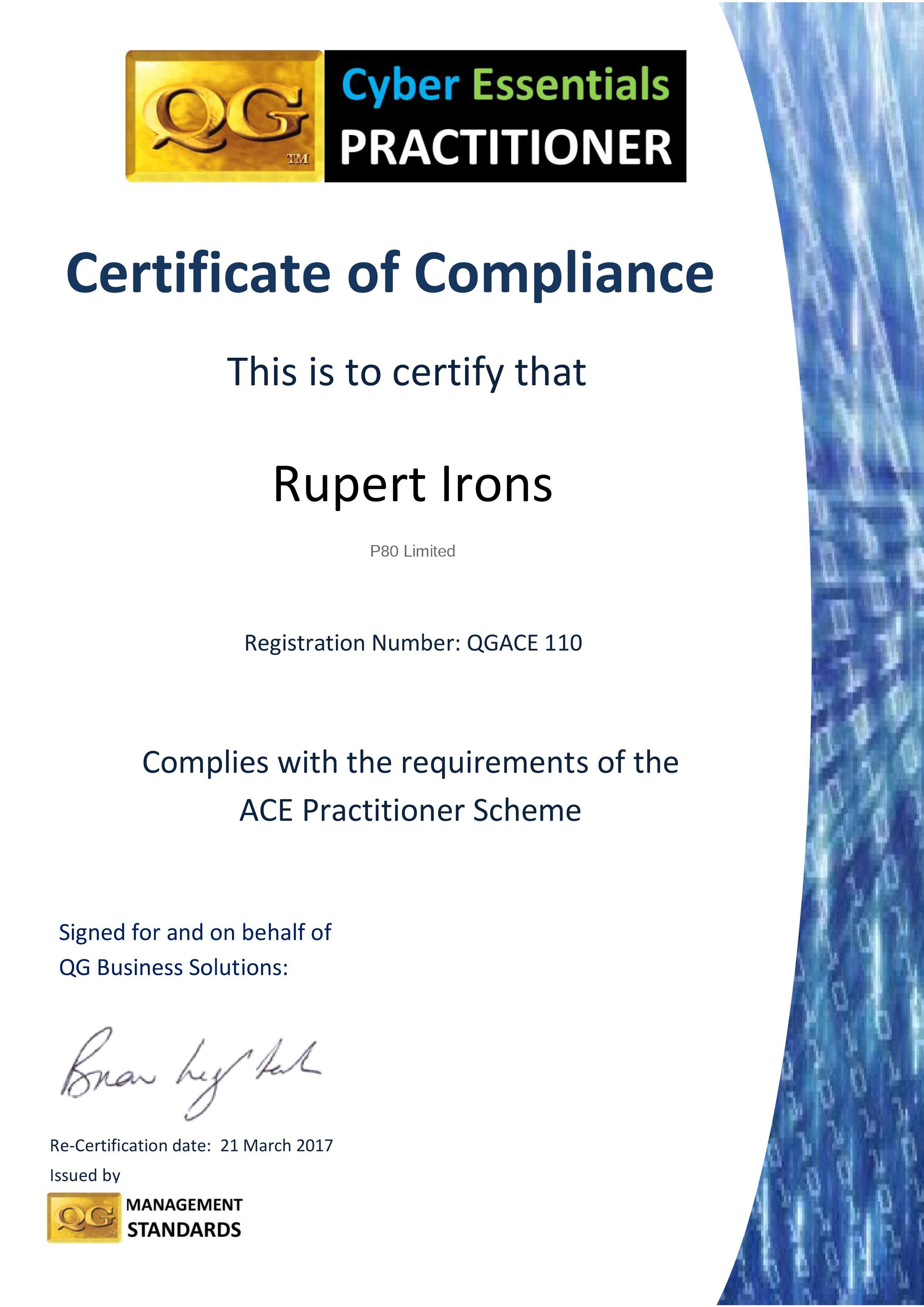 qgace 16 17 Rupert Irons