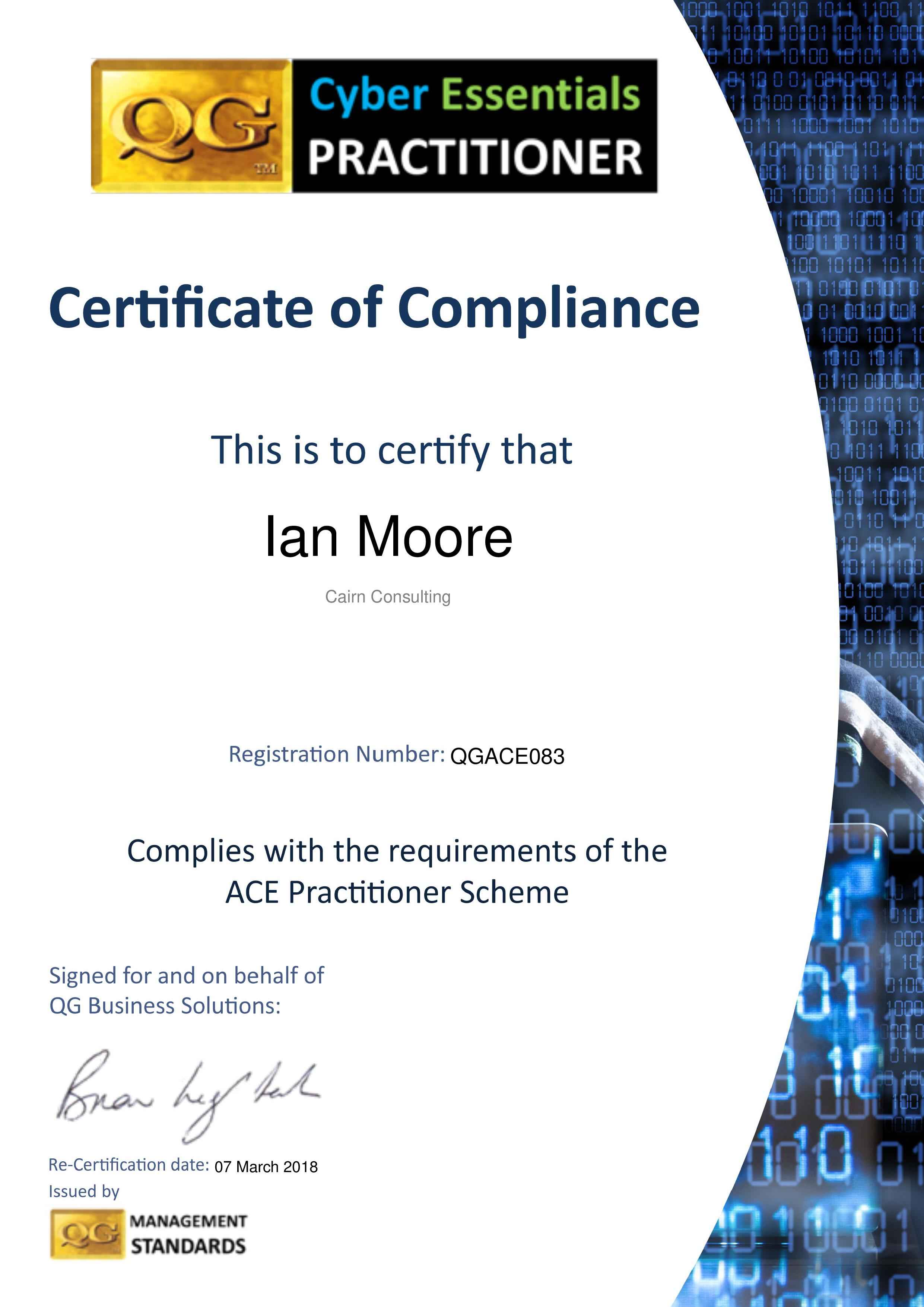 QGACE083 Cairn Consulting