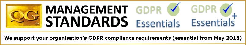 QG Standards GDPR Essentials landscape white
