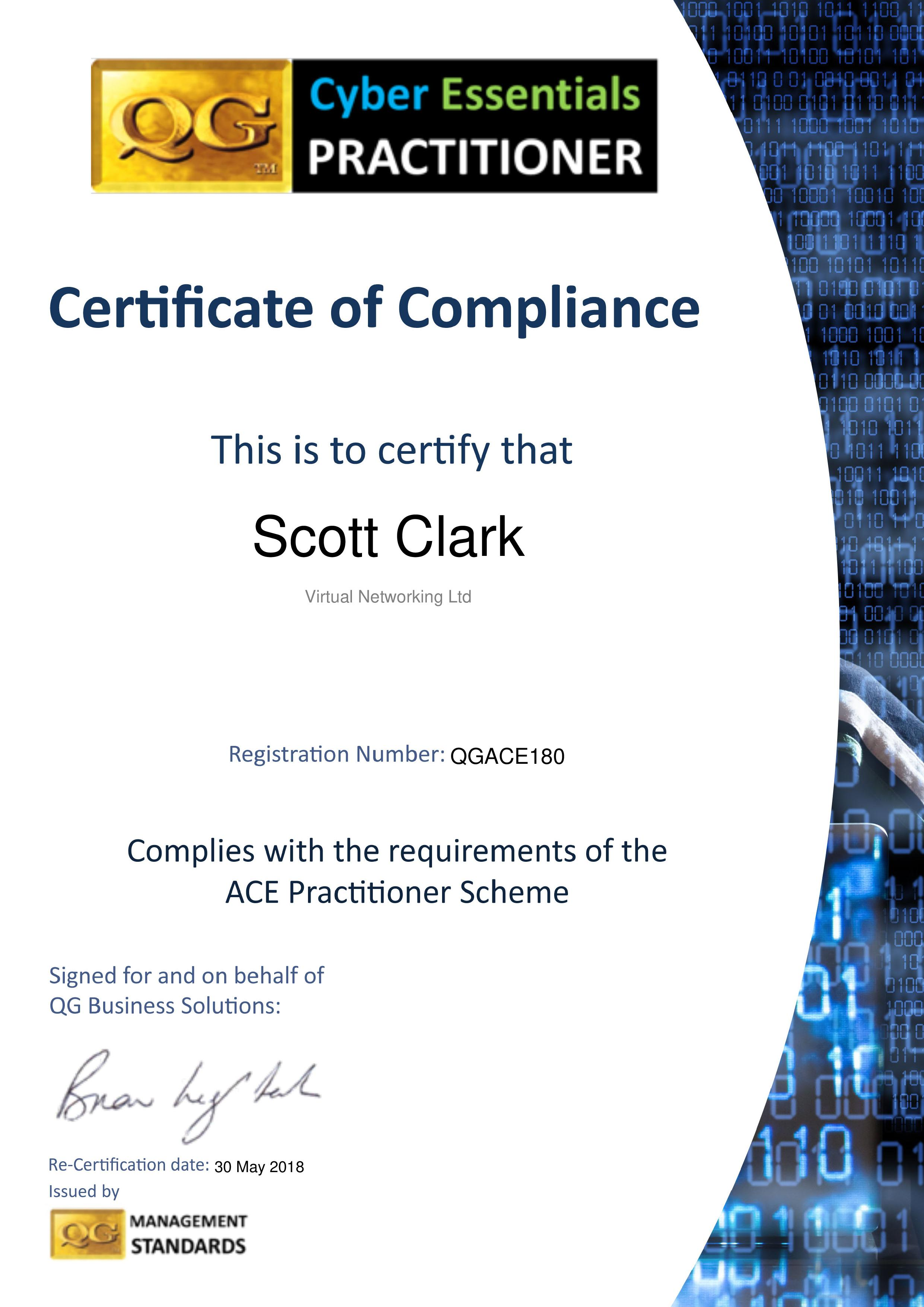 QGACE180 Virtual Networking Ltd
