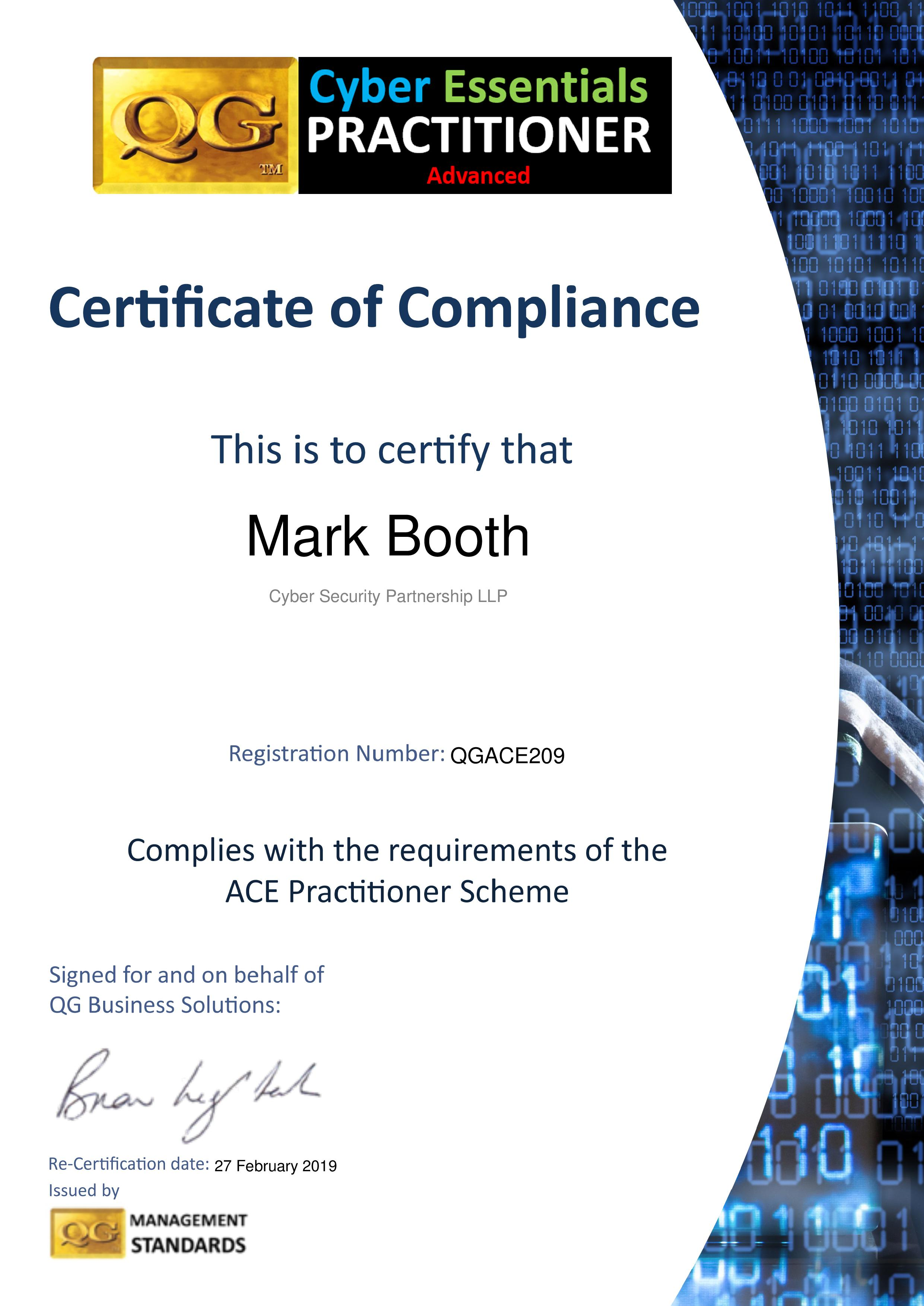 QGACE209 Cyber Security Partnership LLP
