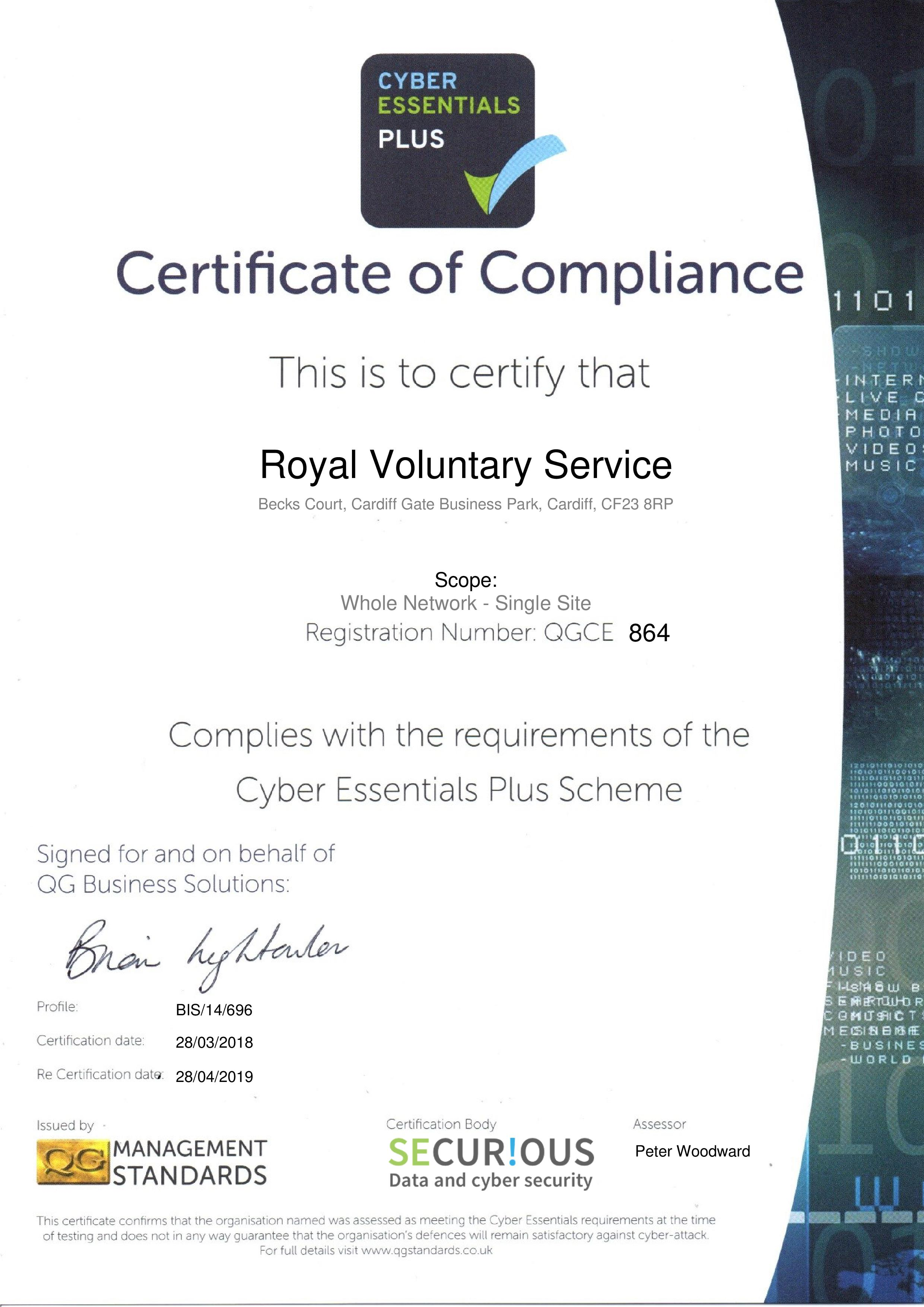 QGCE864 Royal Voluntary Service