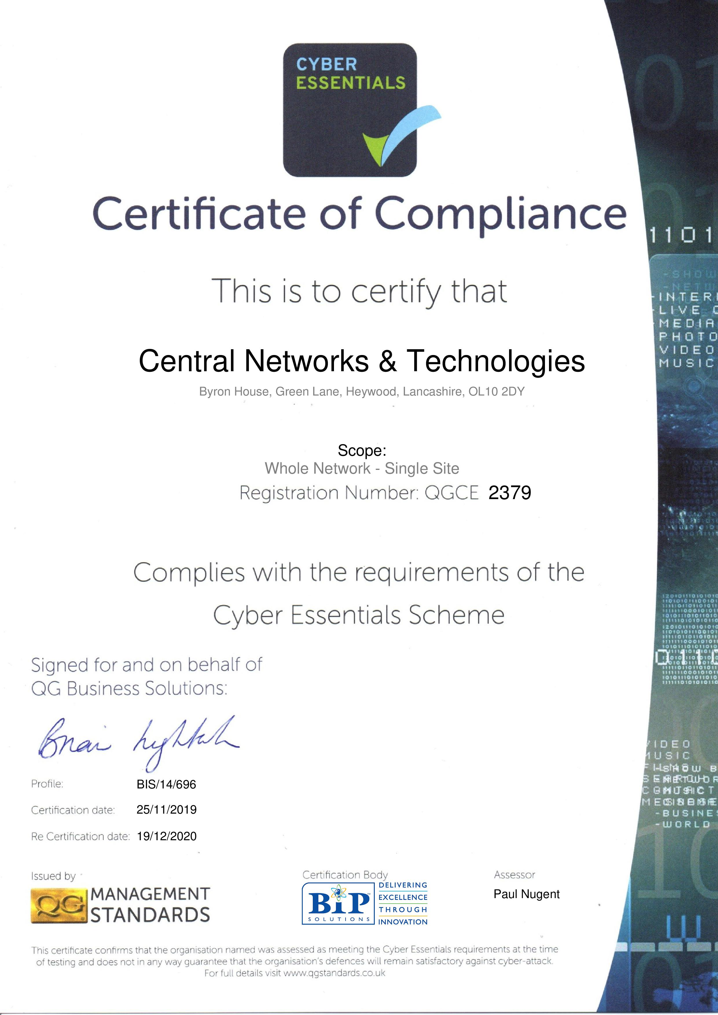 QGCE2379 Central Networks & Technologies