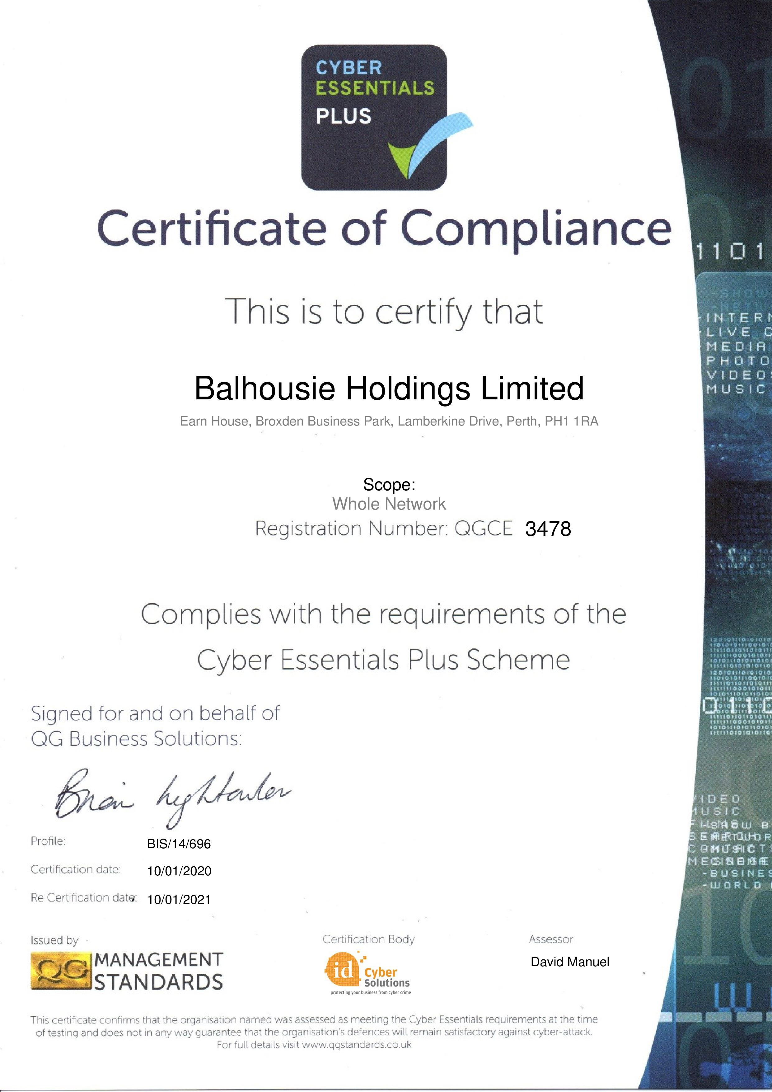 QGCE3478 Balhousie Holdings Limited