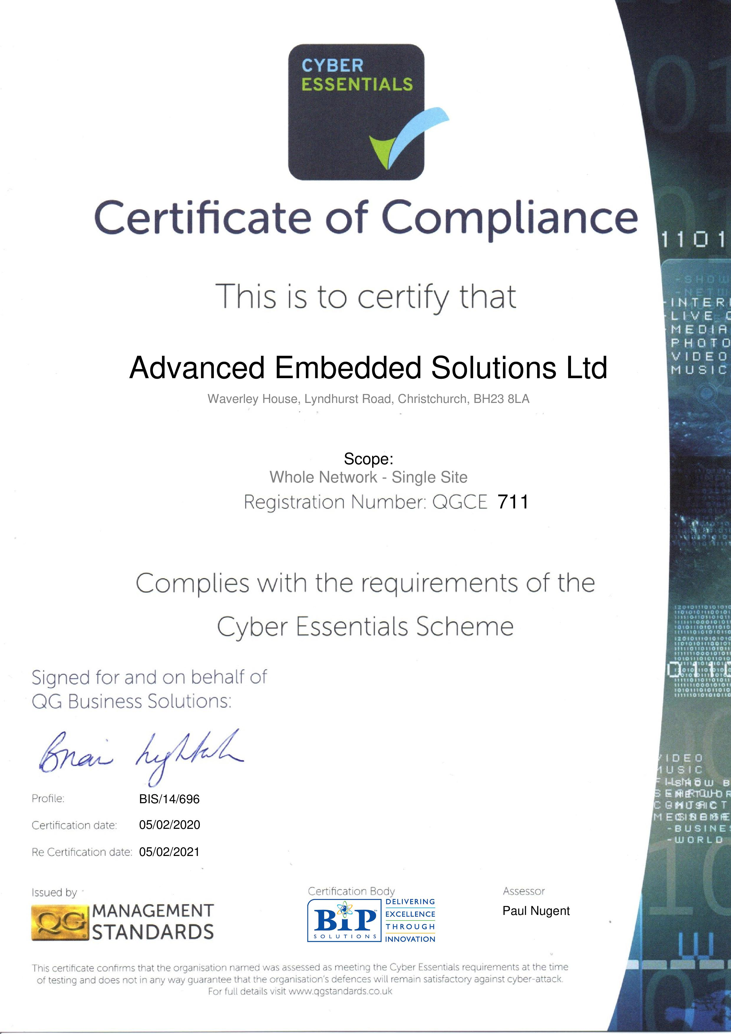 QGCE711 Advanced Embedded Solutions Ltd