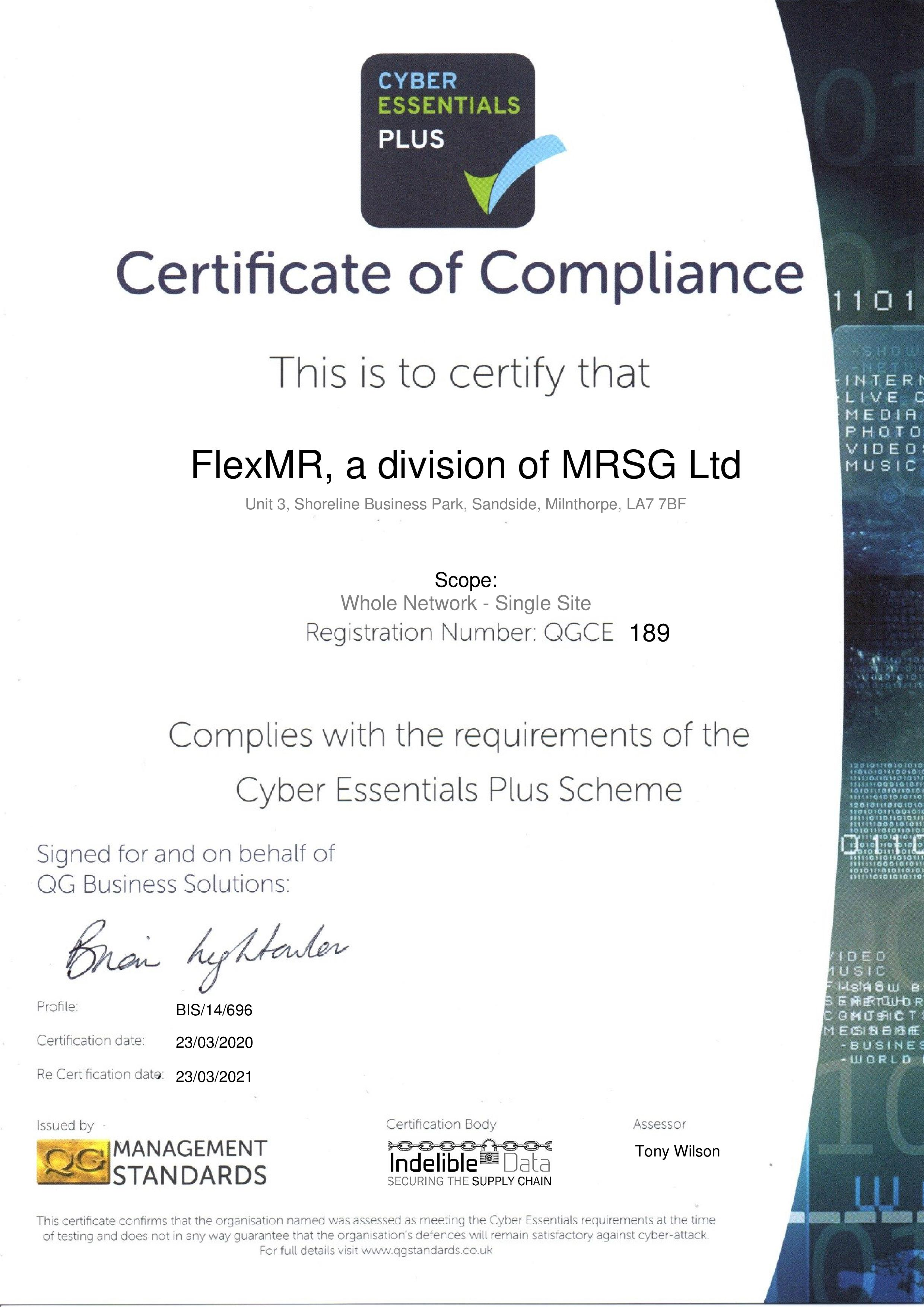 QGCE189 FlexMR, a division of MRSG Ltd